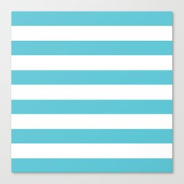 Simply Stripes in Seaside Blue Canvas Print