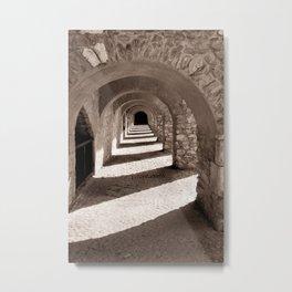 Corridors of Stone Metal Print