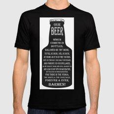 BEER PRAYER Mens Fitted Tee Black X-LARGE