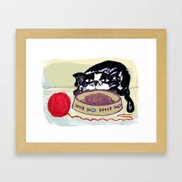 MISERABLE MOGGY Framed Art Print