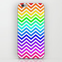 Raibow pattern lines iPhone Skin