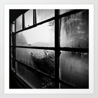 Loch Ness hostel window Art Print