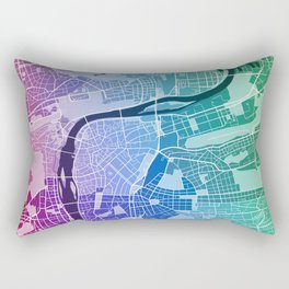 Prague Map (Colour Gradient) Rectangular Pillow