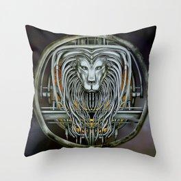 """""""Astrological Mechanism - Leo"""" Throw Pillow"""