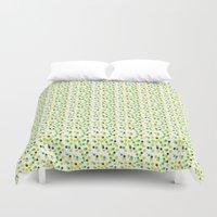 confetti Duvet Covers featuring confetti by MGK Designs
