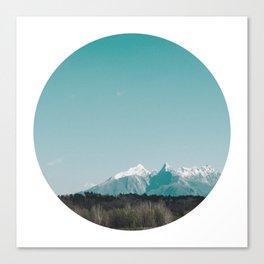 Circle Cut - II - White Peaks Canvas Print