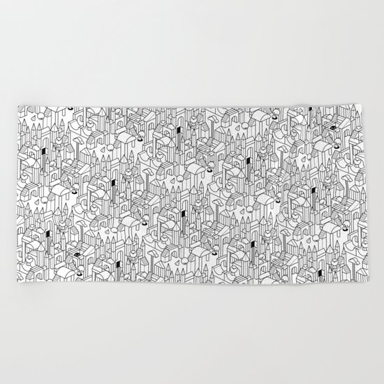 Little Escher's Building Blocks Beach Towel