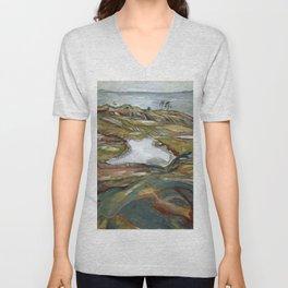 Edvard Munch - Coastal Landscape Unisex V-Neck