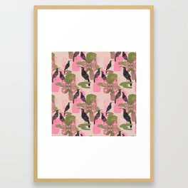 Huias and Proteas Framed Art Print
