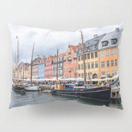 Nyhavn waterfront in Copenhagen Pillow Sham