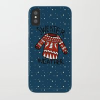 sweater iPhone & iPod Cases featuring Sweater by Mr & Mrs Quirynen