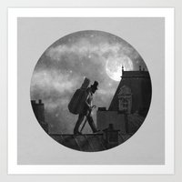 kindle Art Prints featuring Rooftoppers - Chapter 27  by Terry Fan