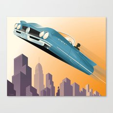 Dude, Where's My Flying Car? Canvas Print