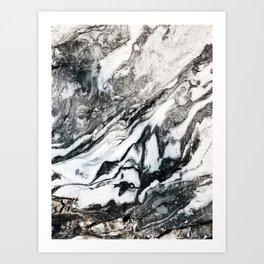 Black Mirror #digitalart #abstract Art Print