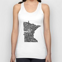tree rings Tank Tops featuring Minnesota Tree Rings by Wolf's Head Craftworks