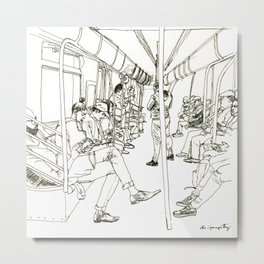 Late Night Subway Rides, NYC Metal Print