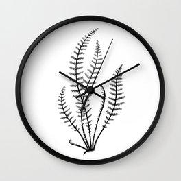 Minimal Black Fern Wall Clock