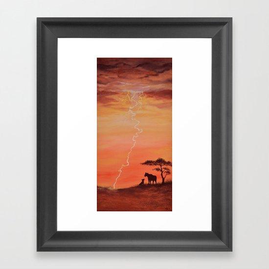 Goodbye Blue Sky Framed Art Print