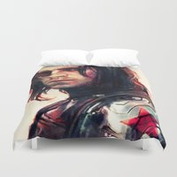 dead Duvet Covers featuring Left Me For Dead by Alice X. Zhang