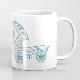 Floral Wave Pattern Coffee Mug