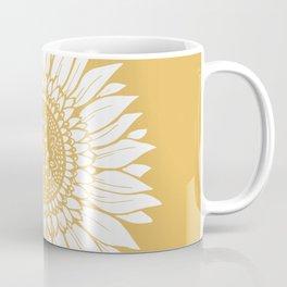 Yellow Sunflower Drawing Coffee Mug