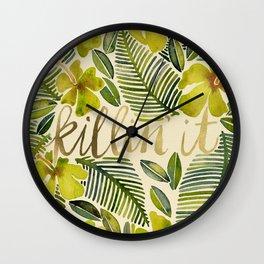 Killin' It – Tropical Yellow Wall Clock