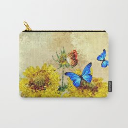 Abstract Floral 09 Carry-All Pouch