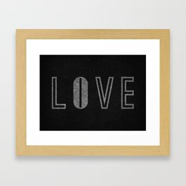 Live & Love Framed Art Print