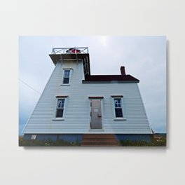 Lighthouse in North-Rustico Metal Print