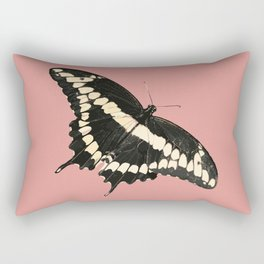 Butterfly Illustrated Print Rectangular Pillow