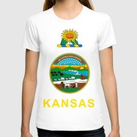 kansas T-shirts featuring KANSAS by changsaw