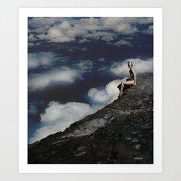 A Woman On The Edge Art Print