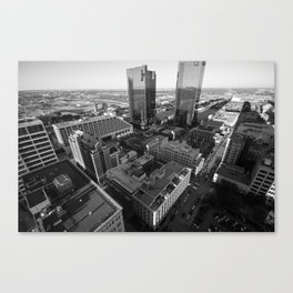 Fort Worth in Black and White Canvas Print