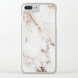 Artico marble - rose gold accents Clear iPhone Case