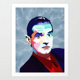 Portrait of Hans Holzel (Falco) Art Print