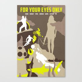 James Bond Golden Era Series :: For Your Eyes Only Canvas Print