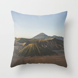 Mount Bromo, Podokoyo, Pasuruan, East Java, Indonesia Throw Pillow