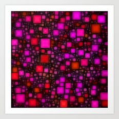 Post It Pink Glow Art Print