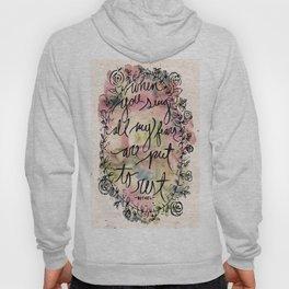 FEAR | Bethel Worship Lyric Print - Watercolor Hand Lettered Script Floral Weath Print  Hoody