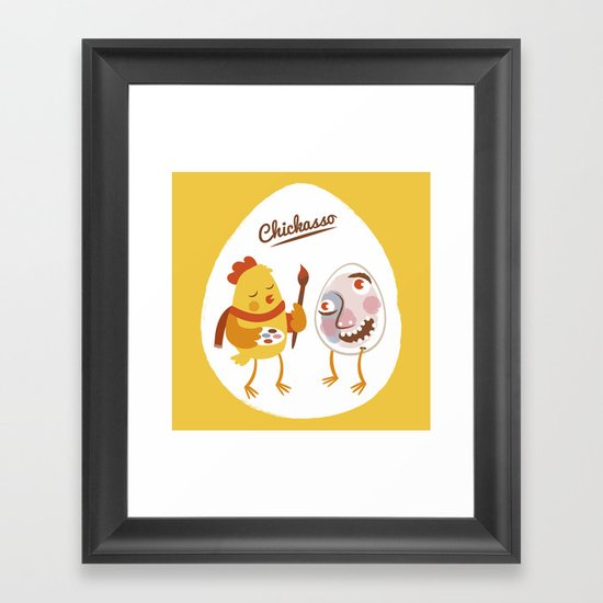 Chickasso Framed Art Print