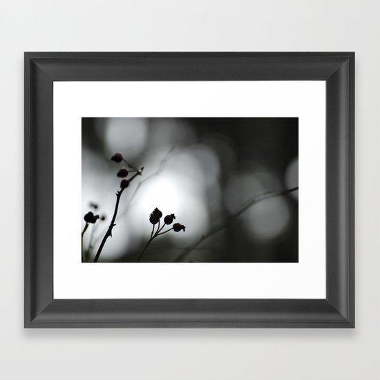 Hidden in the forest Framed Art Print