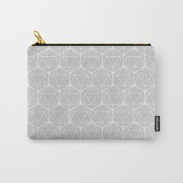 Icosahedron Soft Grey Carry-All Pouch