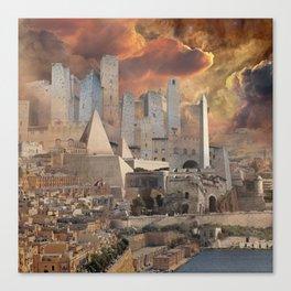 Ancient Fantasy City Canvas Print