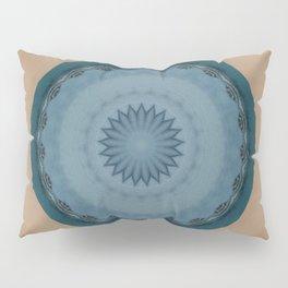 Pallid Blue Base Mandala Pillow Sham