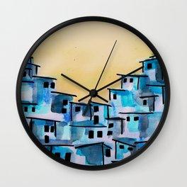 favela brazil city art  Wall Clock