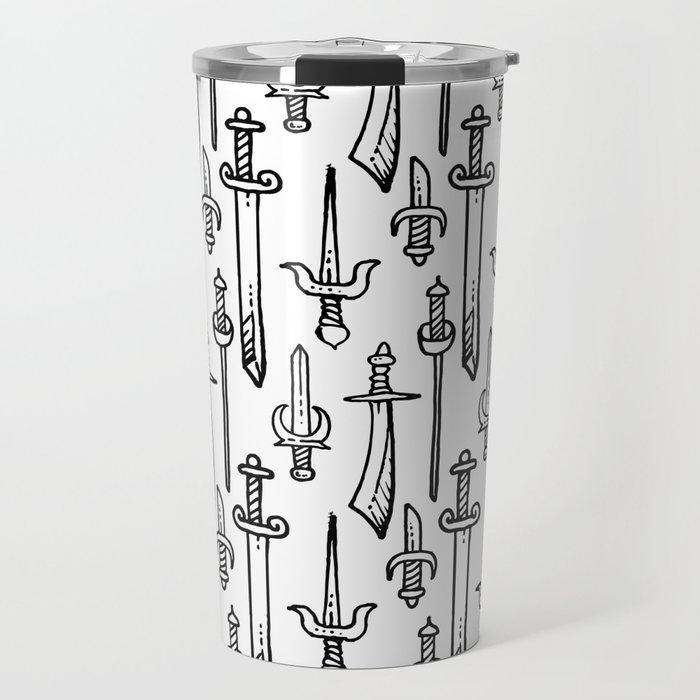 Swords & Daggers Pattern Travel Mug