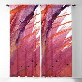 Tigerlily: a vibrant, colorful, watercolor piece in pink, purple, orange, and reds Blackout Curtain
