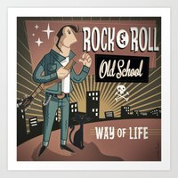 rock and roll Art Prints featuring Rock&Roll by Nano Barbero