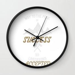 No Limitations Wall Clock