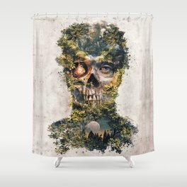The Gatekeeper Surreal Dark Fantasy Shower Curtain